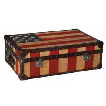 Malle watson en tissu avec drapeau am éricain h 300 x 890 x 590 Arteinmotion BAU-W AT0050