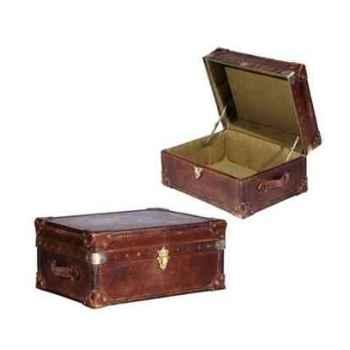 Malle watson en cuir couleur cigar h 300 x 580x 430 Arteinmotion BAU-W AT0046