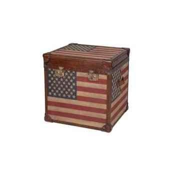 Malle star en tissu avec drapeau américain h 600 x 600x 600 Arteinmotion BAU-STA0041