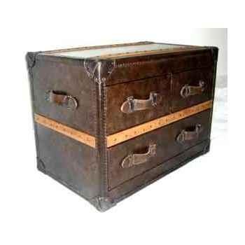 Bahut stonyhurst en cuir couleur cigar avec 3 tiroirs h 580 x 800 x 500 Arteinmotion CAS-STO0007