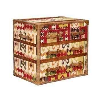 Bahut stonyhurst en kilim avec 4 tiroirs h 800 x 1010 x 500 Arteinmotion CAS-STO0013