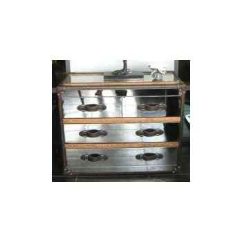 Bahut stonyhurst en acier brillant h 800 x 1010 x 500 Arteinmotion CAS-STO0022