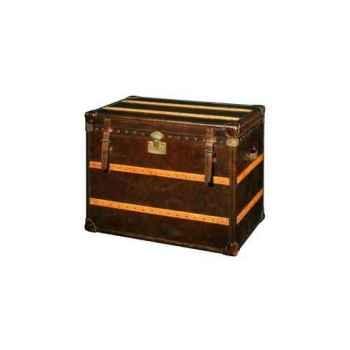 Malle cunard en cuir couleur cigare h 750 x 930 x 600 Arteinmotion BAU-CUN0009