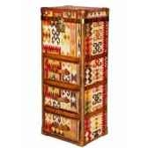 malle winchester en kilim avec 3 tiroirs h 1230 x 520 x 420 arteinmotion bau w in0040