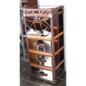 malle winchester en acier brillant avec 3 tiroirs h 1230 x 520 x420 arteinmotion bau w in0057