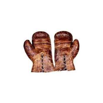 Gants de boxe en cuir couleur cigare h 120 x 190 x 320 Arteinmotion COM-GUA0002