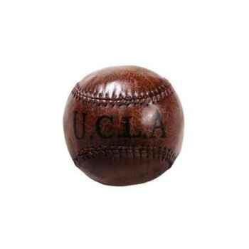 Balle de bas e-ball ucla 1958 en cuir couleur cigare h 100 x 100 x 100 Arteinmotion COM-PAL0003