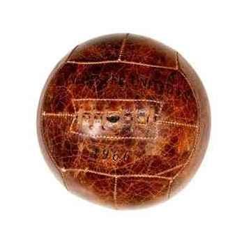 Balle de football en cuir couleur cigare h 240 x 240 x 240 Arteinmotion COM-PAL0017