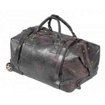 Trolley gladstone en cuir couleur tabac h 440 x 580 x 420 Arteinmotion COM-BOR0090