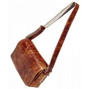 Sac greg en cuir couleur cigare h 250 x 330 x 80 Arteinmotion COM-BOR0045