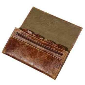 Porte-documents gulliver en cuir couleur cigare avec finition en croco h 140 x 240 x 23 Arteinmotion COM-BOR0044