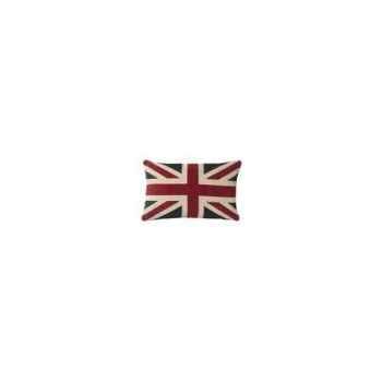 Gros coussin en chenille avec union jack 45 x 70 Arteinmotion COM-CUS0083