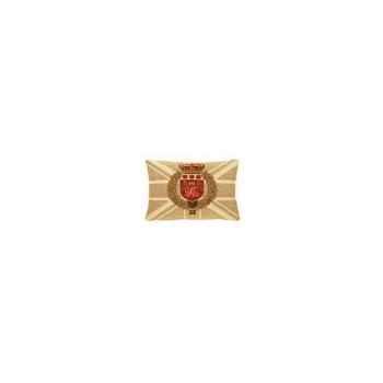 Coussin en tissu avec l\'armoiries du union jack 35x50 Arteinmotion COM-CUS0087