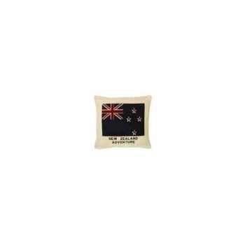 Coussin en chenille avec le drapeau du new zealand 50 x 50 Arteinmotion COM-CUS0081