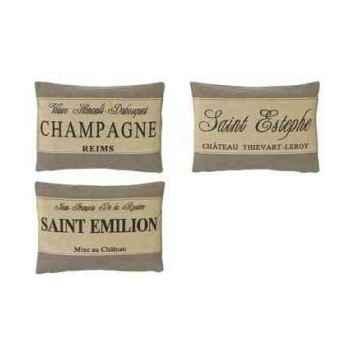 Set de trois coussins champagne en couleur beige 35 x 50 Arteinmotion COM-CUS0105
