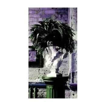 Cadre statue plume en aluminium effet humide 1500 x 800 Arteinmotion QUA-ALL0063