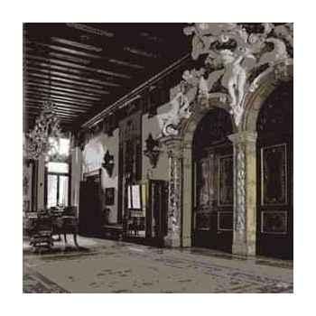 Cadre intérieur venise en aluminium effet humide 1000 x 1000 Arteinmotion QUA-ALL0060