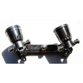 Applique en laiton plaqué d'argent avec deux projecteurs h 60 x 255 x 120 Arteinmotion LAM-PRO0044