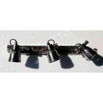 Applique en laiton plaqué d\'argent avec trois projecteurs h 55 x 500 x 120 Arteinmotion LAM-PRO0045