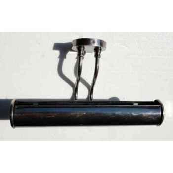 Applique en laiton plaqué d\'argent avec abat-jour cylindrique h 120 x 335 x 260 Arteinmotion LAM-PRO0043