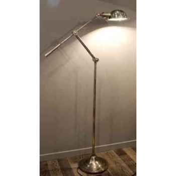 Lampe en laiton plaqué d\'argent avec abat-jour rond h 1500 Arteinmotion LAM-PRO0015