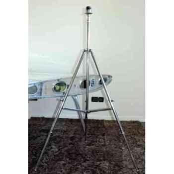 Lampe trépied en laiton plaqué d'argent sans abat-jour h 1130-1520 Arteinmotion LAM-PRO0028