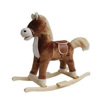 Petit cheval à bascule peluche marron foncé New classic toys 1140