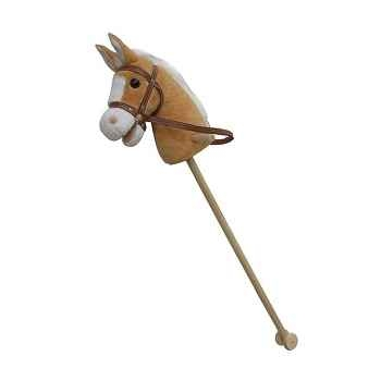 Cheval baton peluche marron clair New classic toys 1132
