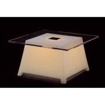Table basse raffy m10 avec plateau lumineuse design eric raffy Qui est Paul Raffy M10PL