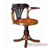 chaise de bureau noire decoration marine amf mf081