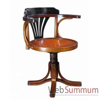 Chaise de bureau, noire décoration marine amf mf081