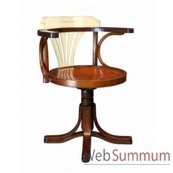 Chaise de bureau, ivoire décoration marine amf mf082