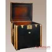 malle de cabine bout canape noire decoration marine amf mf079b