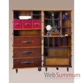 malle de cabine armoire noire decoration marine amf mf077b