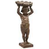 fontaine cherub shelfountainhead bronze et vert de gris bs3143vb