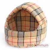 corbeille dome tissu interieur mousse 30cmx30cm sellerie canine vendeenne 10530