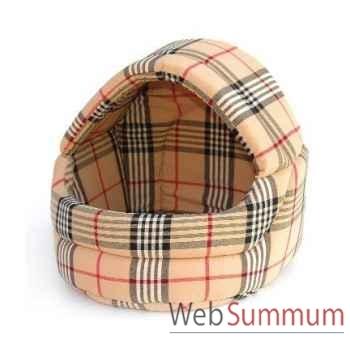 Corbeille dome tissu interieur mousse 40cmx40cm Sellerie Canine Vendéenne 10540