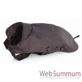 Manteau tissu enduit matelasse avec boutons l. 28 cm Sellerie Canine Vendéenne 11028