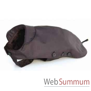 Manteau tissu enduit matelasse avec boutons l. 56 cm Sellerie Canine Vendéenne 11056