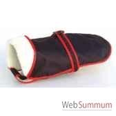 manteau tissu enduit fourre avec ceinture 43 cm sellerie canine vendeenne 11443