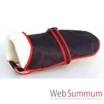 Manteau tissu enduit fourre avec ceinture l. 49cm Sellerie Canine Vendéenne 11449