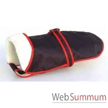 Manteau tissu enduit fourre avec ceinture l. 56 cm Sellerie Canine Vendéenne 11456