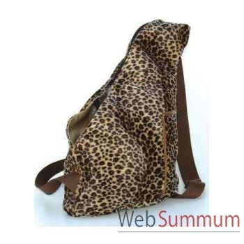 Sac banane tissu panthere double fourrure h. 36cm Sellerie Canine Vendéenne 12641