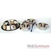 support de 2 gamelles inox 11 cms sellerie canine vendeenne 16120
