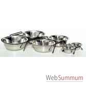 support de 2 gamelles inox 16 cms sellerie canine vendeenne 16122