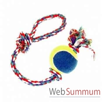 Corde poignee avec balle tennis Sellerie Canine Vendéenne 17721