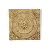 decoration murale modele rondelle walplaque surface bronze avec vert de gris bs3166vb