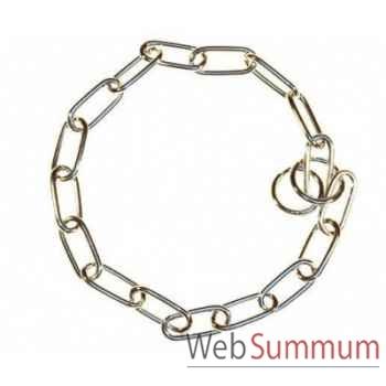 Collier etrangleur chrome  l. 61cm - fil 4 Sellerie Canine Vendéenne 20512