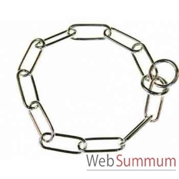 Collier etrangleur metal l. 55 cm - fil 4 Sellerie Canine Vendéenne 20555