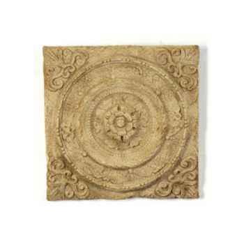 Décoration murale-Modèle Rondelle Wall Plaque, surface marbre vieilli-bs3166ww